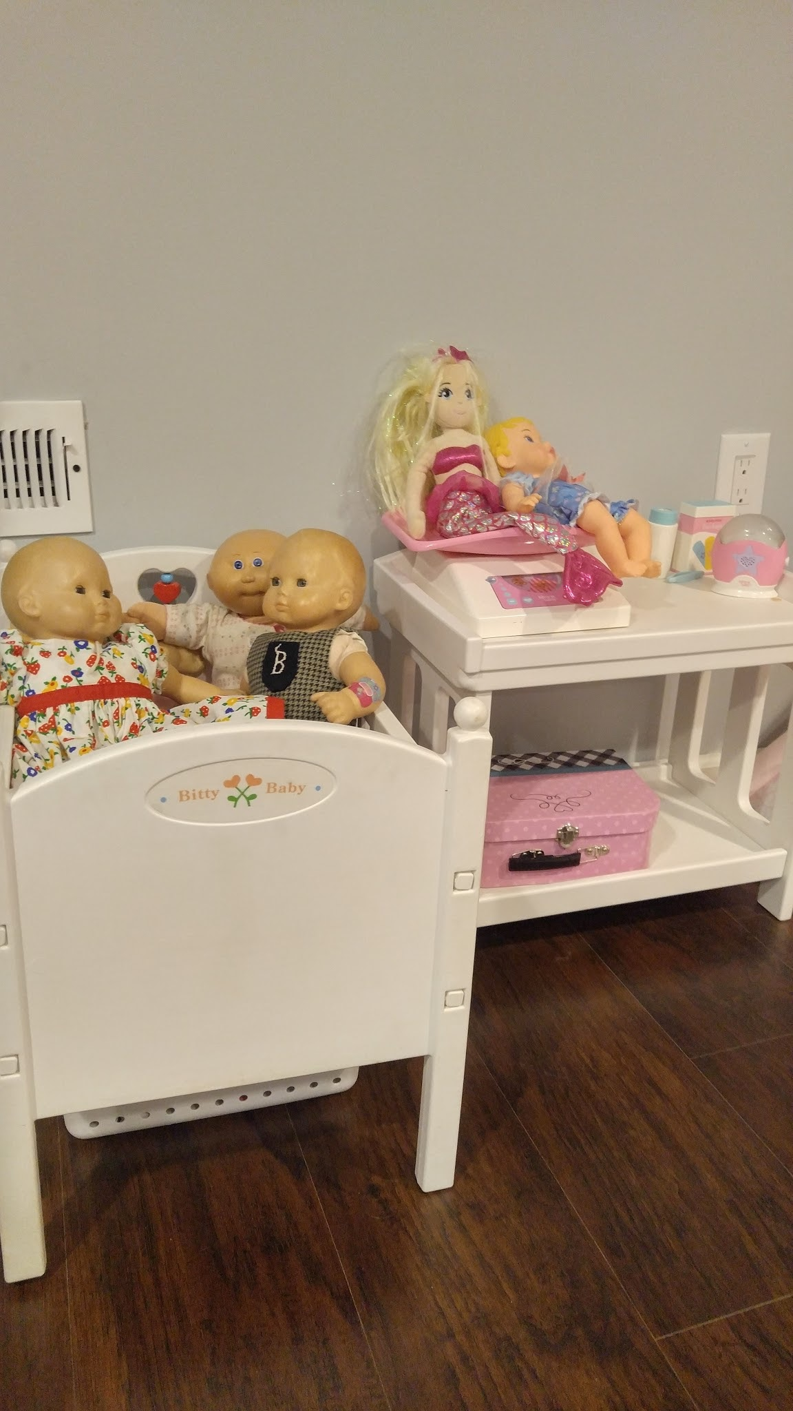 The Bitty Baby Crib And Changing Table Are Retired American Girl But They  Do Have Newer Versions Available. The Baby Doctor, Baby Monitor And Pink  Case Are ...